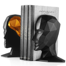 Elegant European Study of High-Grade Office Decorations Resin Crafts Human Face Brain Bookends Best GIFT, Free Shipping