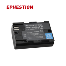 EPHESTION LP-E6 LPE6 LP E6 Camera Battery Of Mark II Mark III For EOS For Canon 5D 6D 7D 60D 60Da 70D 80D DSLR High Capacity все цены