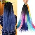 Косички для вязания крючком, синтетические волосы, 2/3 цвета, Омбре, Сенегальский спиральный крючком, волосы для наращивания, 24 дюйма, высокот...