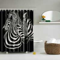 Animais Cavalo de Banho cortina de chuveiro grande 180x200 cm 3d Única Impressão de Poliéster Impermeável para a Decoração do banheiro Cortina de bano