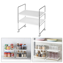 Prateleira organizadora de 2 andares, prateleira para armazenamento de temperos, organizador de cozinha e banheiro, prateleira com 2 andares
