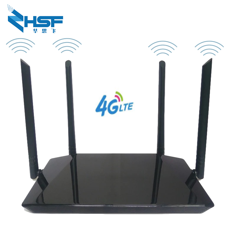 3G / 4G wireless CPE router with sim card slot 300Mbps 4G LTE Wifi router with 4 external antennas Support 32 Wifi