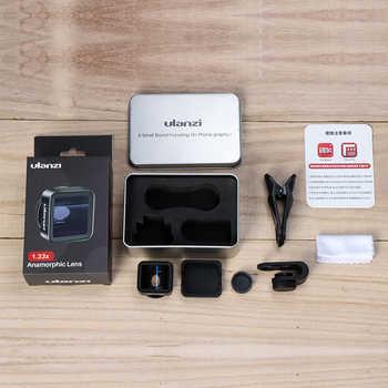 Ulanzi Anamorphic Lens For iPhone 11 Pro 1.33X Wide Screen Video Widescreen Slr Movie Videomaker Filmmaker Universal Phone Lens