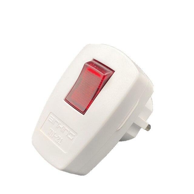 Plug Daya Rewireable On-Off Power Switch 250V 10A  6