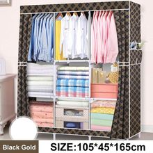 Closet Wardrobes Clothing Cabinet Storage Cupboard Bedroom Furniture Folding Non-Woven