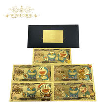 5Pcs/Lot 2021 New Japan Anime Banknote 10,000 Yen Banknote in 24K Gold Plated Money For Collection