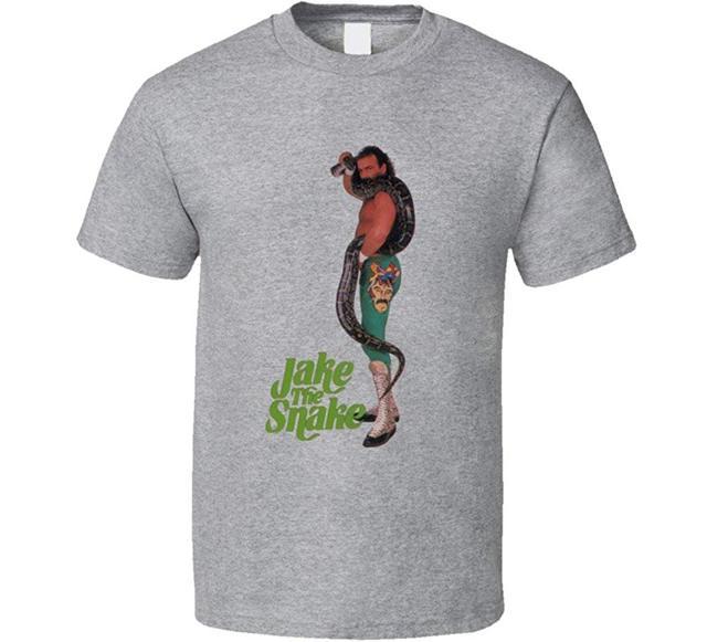 Jake le serpent Roberts lutte légende T-Shirt hauts pour hommes Cool O cou T-Shirt haut T-Shirt nouveau à manches courtes col rond