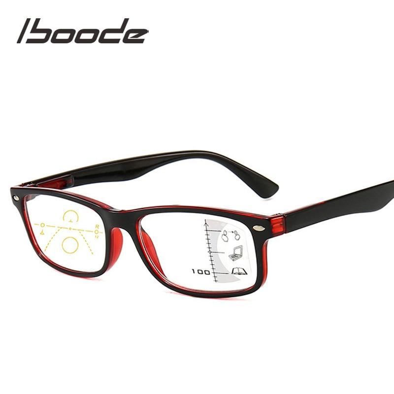 Iboode Multifocal Progressive Blue Light Blocking Reading Glasses For Women Men Retro Anti Blue Rays Presbyopic Glasses Diopters