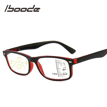 iboode Multifocal Progressive Blue Light Blocking Reading Glasses for Women Men Retro Anti Blue Rays Presbyopic Glasses Diopters retro round anti blue light computer reading glasses for women