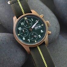 Fashion Bronze Quartz pilot Watches 100meters Waterproof sapphire glass Men Citz