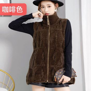 Women Fur Coat Natural Real Fox Fur CoatWomen Winter natural fur Vest Jacket Fashion silm Outwear Real Fox Fur Vest Coat Fox image