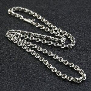 Image 4 - 59 Cm Gratis Verzending Groothandel 100% Echte Pure 925 Sterling Zilveren Ketting 9 Mm Dikke Ketting Mannen Gift Thai Zilver lange Ketting