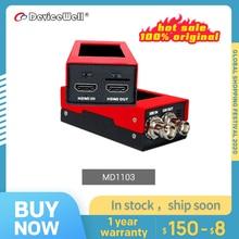 DeviceWell – mini convertisseur micro bidirectionnel MD1103, SDI avec écran LCD, haut parleur et alimentation 1080P60