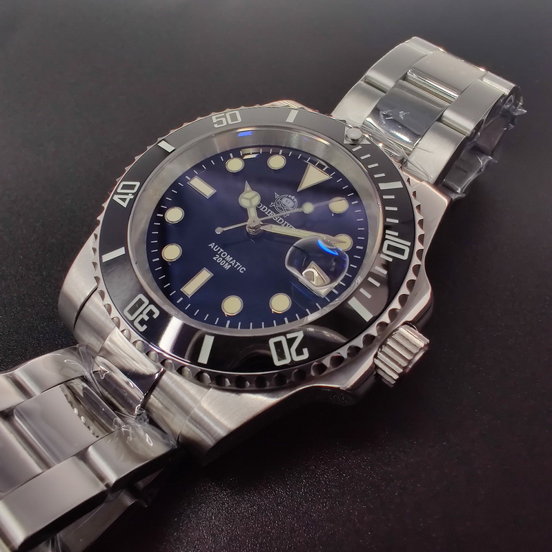 Automatic Watch Sapphire 200m Diver Watch Mens BGW9 Super Luminous Little Red Flower NH35 Mechanical Watches Men's watch