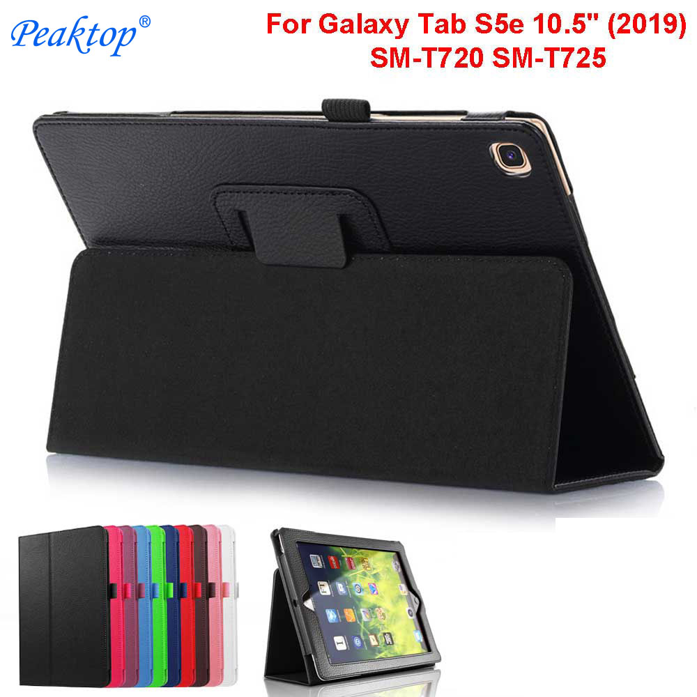 Lightweight Filp Leather Stand Cover for Samsung Galaxy Tab S5e 10.5 2019 Case Model SM-T720/T725 Fundas Cases with Pen+Film image