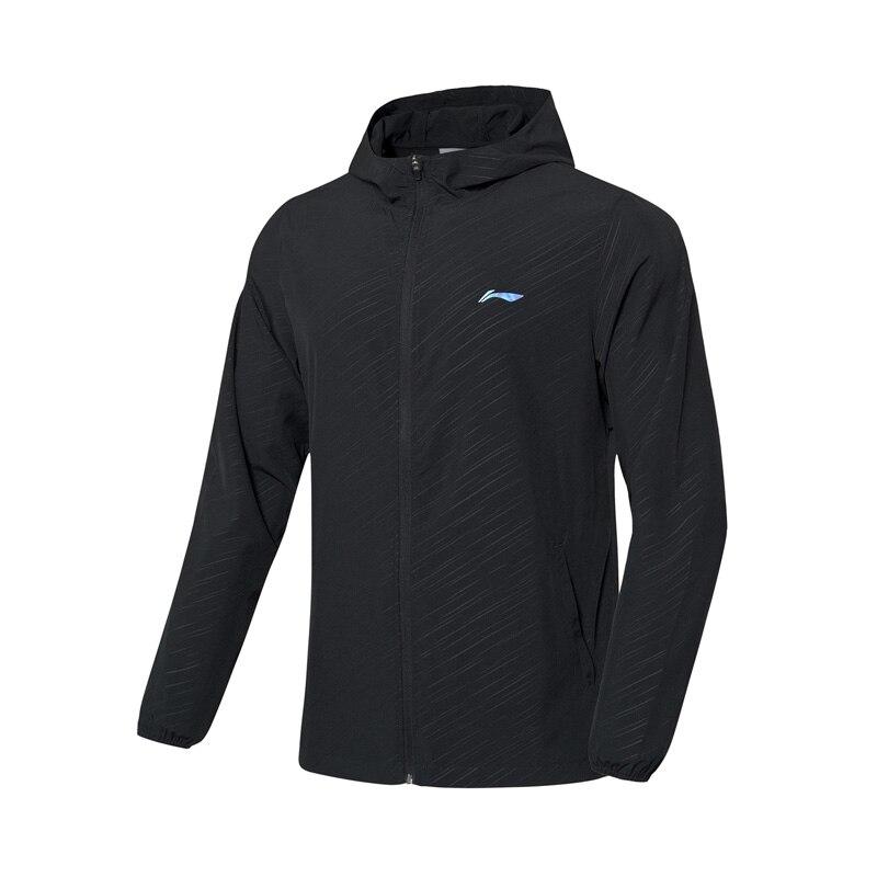 Li-Ning мужская куртка для бадминтона, дышащая, 91.1% полиэстер, 8.9% спандекс, подкладка, спортивное пальто AFDP483 MWF405 - Цвет: AFDP483-1H