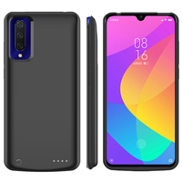Mi9 Slim Silicone shockproof Battery Charger Case For Xiaomi Mi 9 Lite Backup Power Pack Charger cover Cases For Xiaomi Mi 9 Pro|Battery Charger Cases| |  -
