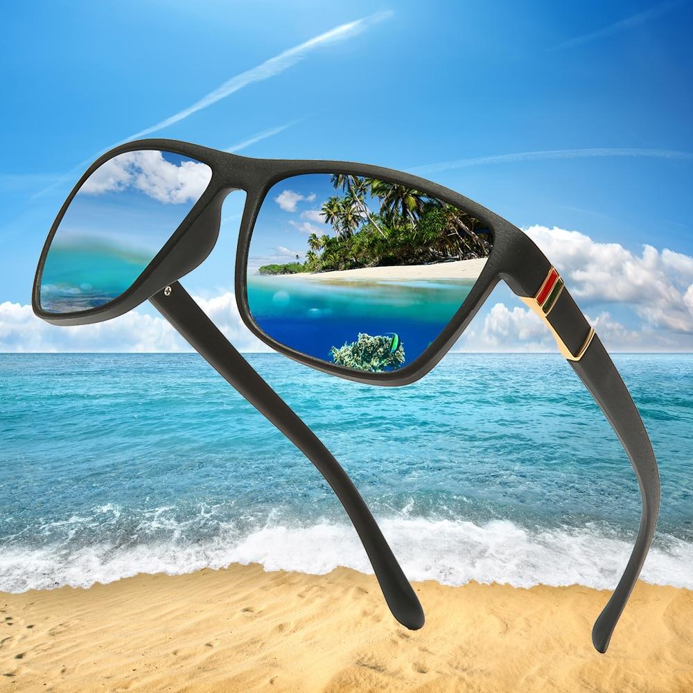 Brand Design Men Polarized Sunglasses Vintage Men Coating Sunglass Male Square Driving Sun Glasses UV400 Shades Oculos De Sol