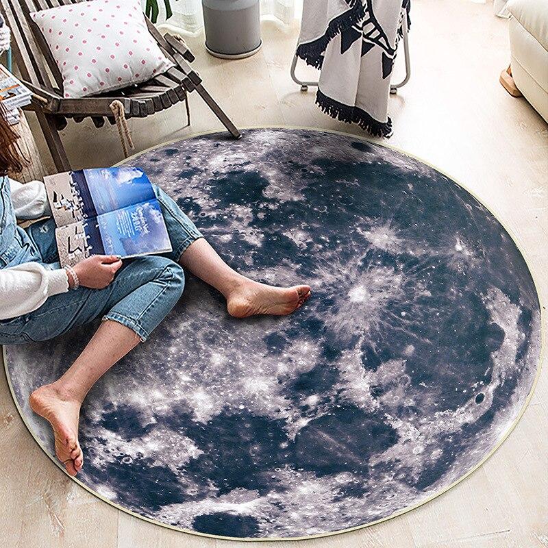 Hétéroclite tapis rond salon peluche tapis moelleux décor à la maison Shaggy tapis chambre canapé Table basse tapis de sol doux enfants chambre tapis