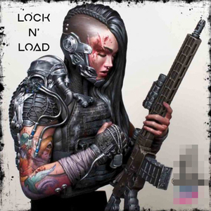 1/9 Resin Model Bust GK Lock N Load Female gunman Unassembled and unpainted kit
