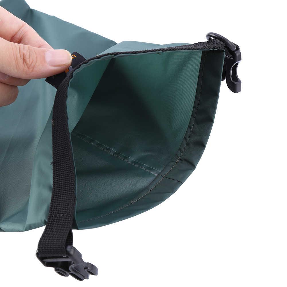 送料無料 3 個セット屋外水泳防水バッグキャンプラフティング収納ドライバッグ調節可能なストラップフック新