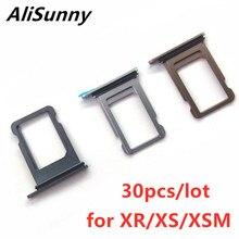 AliSunny 30 шт., держатель для SIM карты, слот для iPhone XR XS Max XSM, один двойной адаптер, запасные части