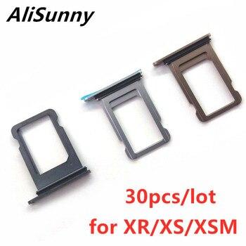 AliSunny 30 Uds soporte para tarjeta SIM ranura para iPhone XR XS Max XSM solo Doble Adaptador de piezas de repuesto