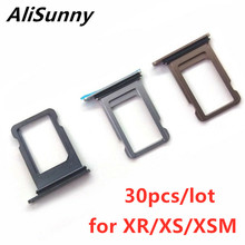 AliSunny 30pcs SIM Card Tray Holder Slot for iPhone XR XS Max XSM Single Dual Adapter Replacement Parts