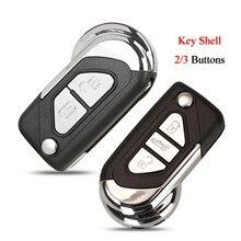 Чехол для автомобильного ключа с дистанционным управлением Kutery для Citroen DS3, пустой чехол для замены 2/3 кнопок с необработанным лезвием ключа ...