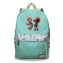 Cute Deadpool Prints Backpacks for Girls Back To School Shoulders Backpack Canvas Travel Bag Teenagers Laptop Bagpack Sac A Dos