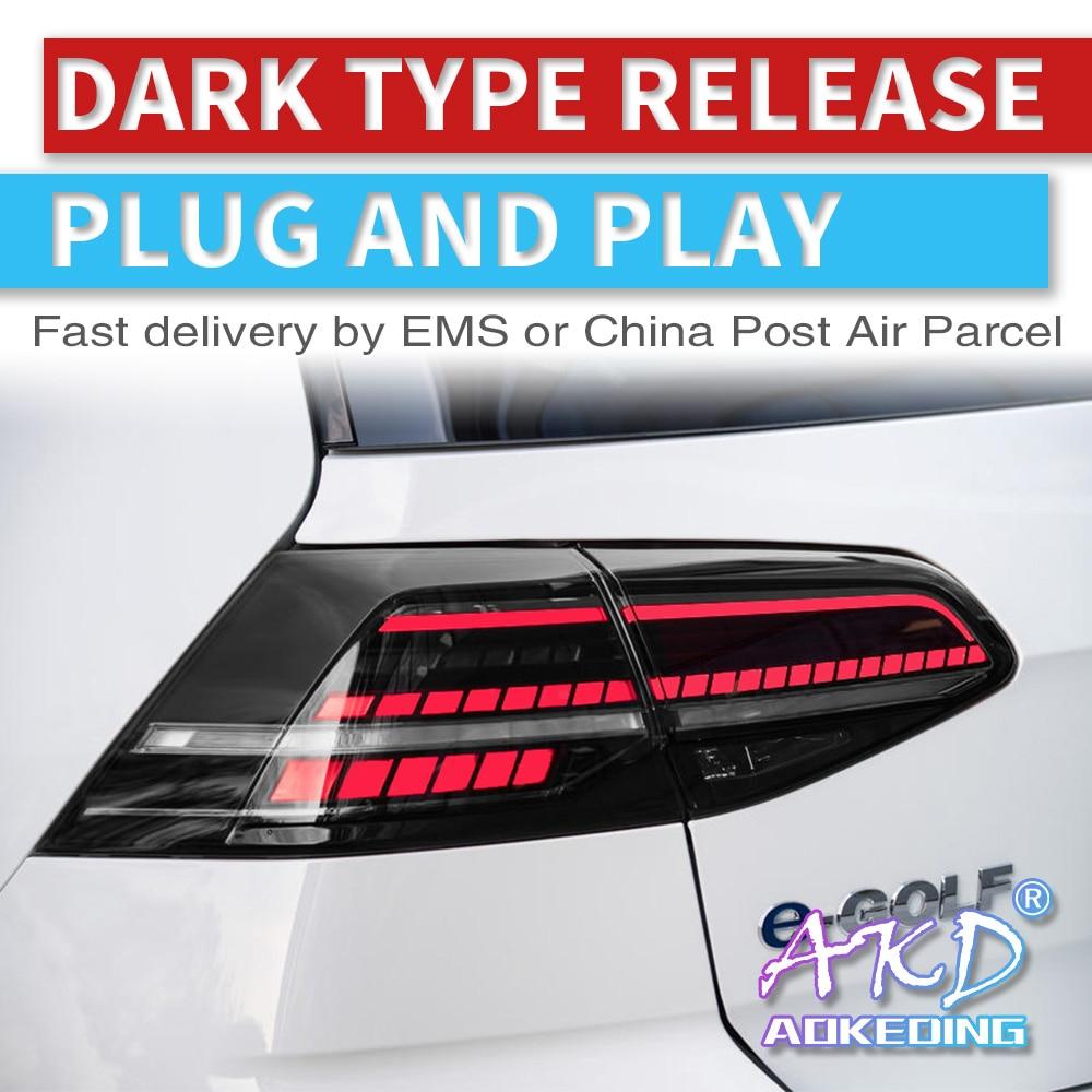 AKD carros tuning luzes Da Cauda Para VW Golf 7 Golf7 MK7 Lanternas Traseiras LED DRL luzes Diurnas luzes de Nevoeiro angel eyes luzes de estacionamento traseiro