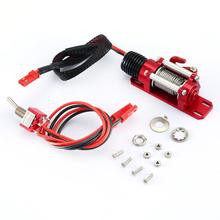Metal Automatic Motor Simulated Winch/Receiver For 1/10 RC Car Traxxas HSP Redcat RC4WD Tamiya Axial SCX10 D90 Hpi Car 4pcs 12mm wheel hex drive hub adapter combiner coupler with pins screws for hsp hpi redcat tamiya traxxas rc4wd d90 1 10 rc car