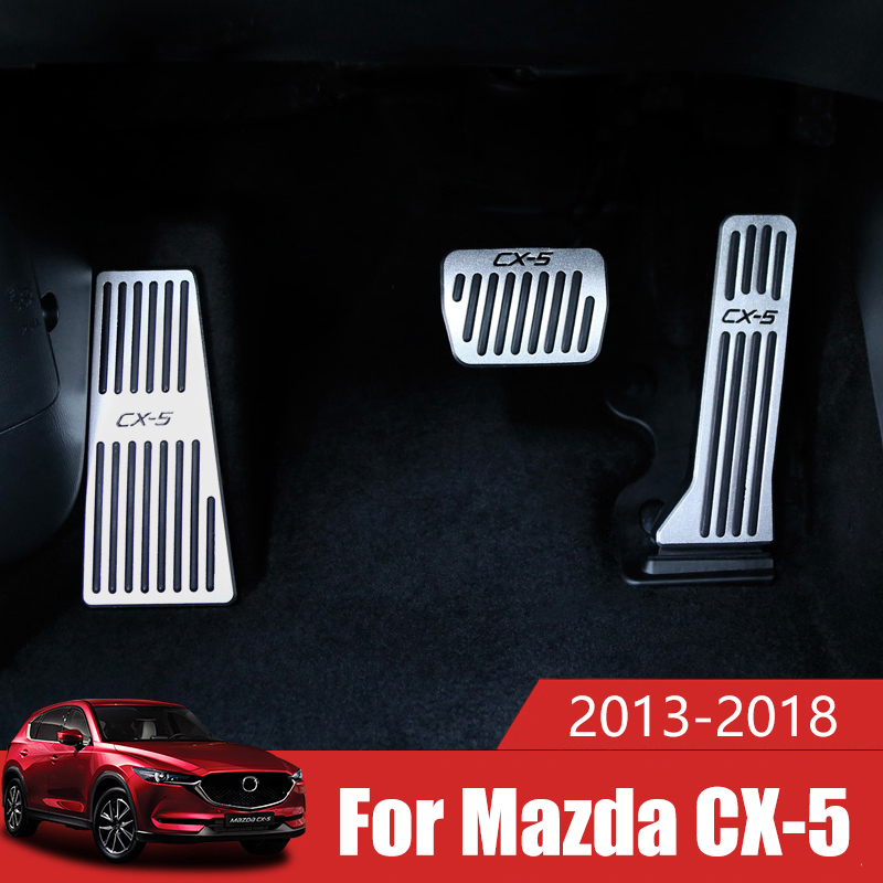Car Accelerator Gas Pedal Brake Pedal Footrest Pedal Plate Cover AT For <font><b>Mazda</b></font> <font><b>CX5</b></font> CX-5 CX 5 2013 <font><b>2014</b></font> 2015 2016 2017 2018 2019 image