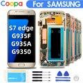 5.5 'Original Super AMOLED Ersatz Für Samsung Galaxy S7 Rand G935F G935A G935O LCD Digitizer Touch Screen Mit Rahmen bildschirm