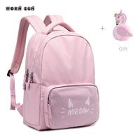 High grade Children school bags Sweet Cute Cat schoolbags waterproof school backpacks for teenagers girls kids backpack mochila