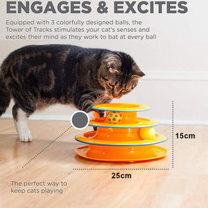 Cat Toy Three Levels Tower Tra