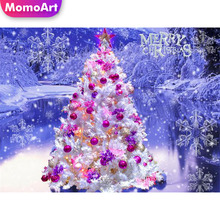MomoArt 5D Diamond Painting Christmas Tree Full Drill Square/round Embroidery Cartoon Cross Stitch Home Decoration