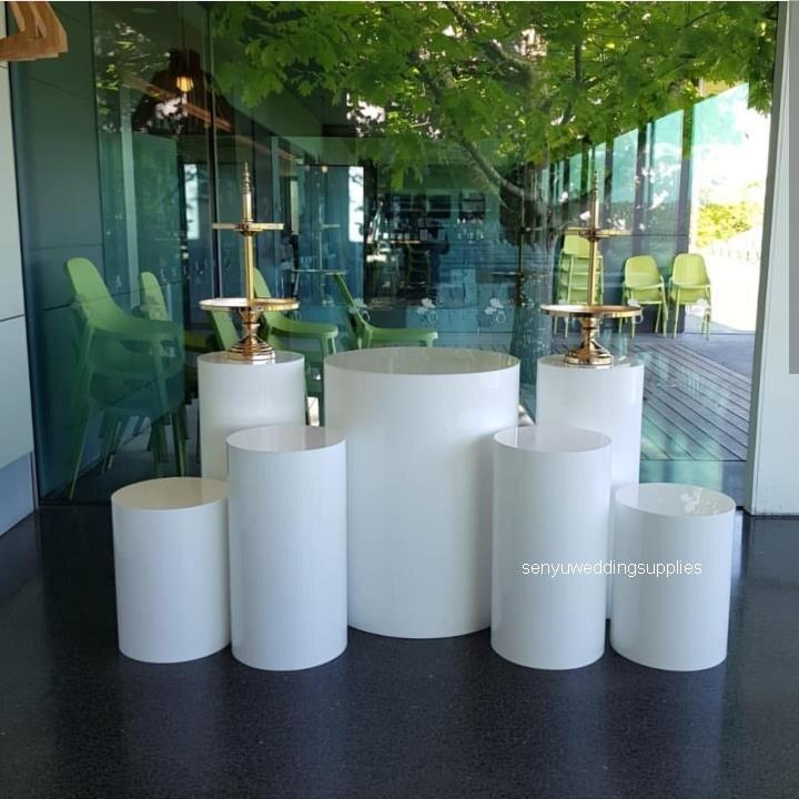 חדש סגנון חתונה אקריליק אובניים מסד קינוח שלב קישוט שולחן עוגת Stand עמודי חתונה מסיבת senyu1695