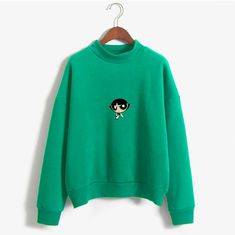 Camiseta De Chicas Superpoderosas Buttercup Power Puff Aesthetic Sweatshirt Ladies Amusement