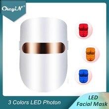 CkeyiN LED Facial Mask Photon Acne Treatment Skin Rejuvenation LED Face Mask Therapy Anti Wrinkle Skin Tightening Whitening 48