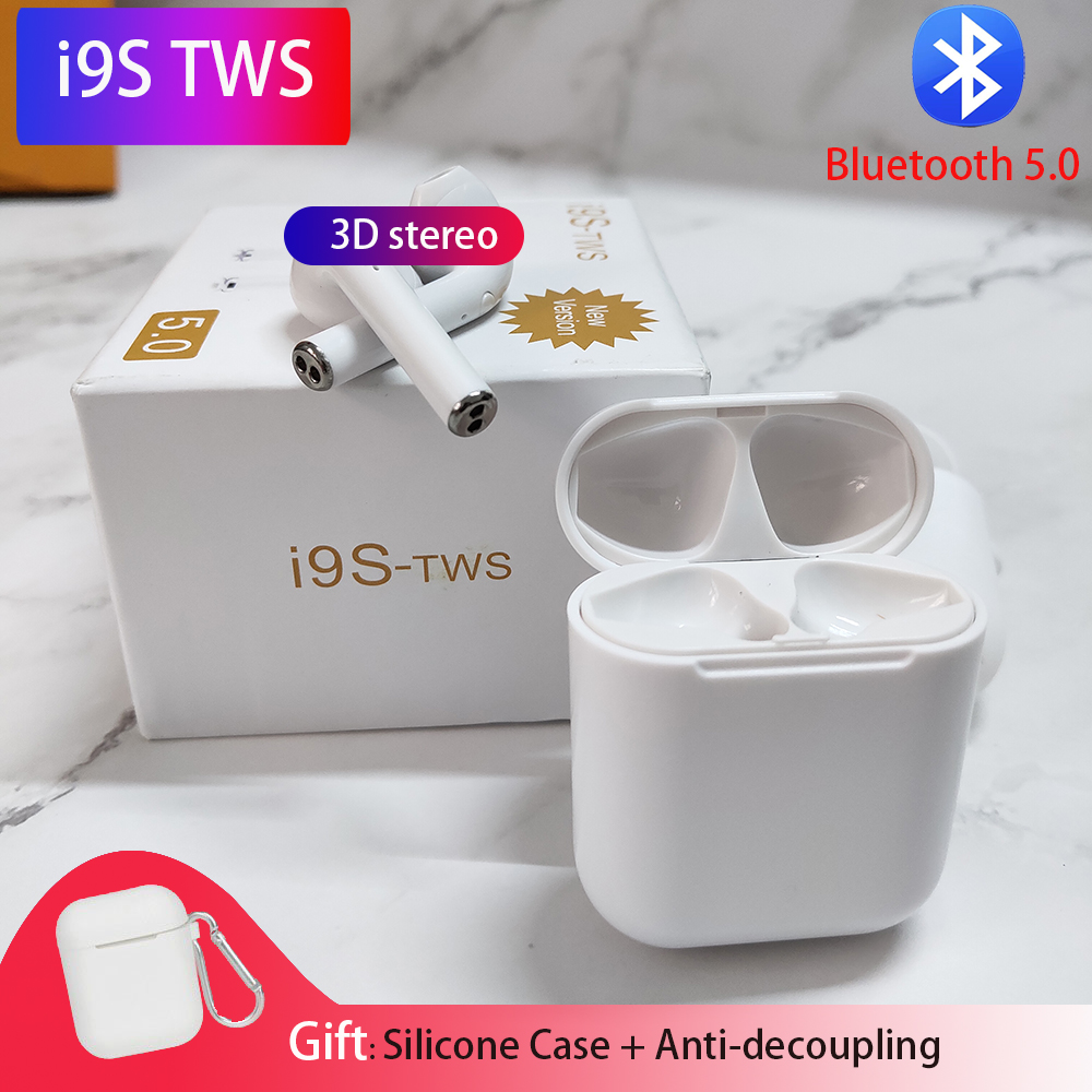 I9s Tws Airpots Bluetooth Earphones Wireless Headphone Stereo Earbuds With Mic Sport Headset PK AP2 I10 Tws For Iphone Airpots