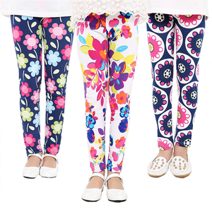 Baby Kids Skinny Slim Leggings Girl Floral Stretchy Pants Children Pants Leggings For Girl Clothes Casaul Wear 1 to 10 Years(China)