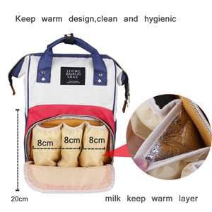 Image 3 - Large Capacity Mummy Maternity Nappy Bag Outdoor Moms Backpack Nursing Bag Mummy Travel Backpack Zippers Baby Care Bag