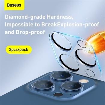 Baseus 2 шт. закаленное стекло для камеры iPhone 12 Pro Max 0,3 мм