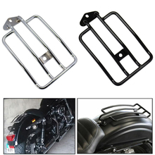 CMTO Motorcycle Solo Seat Rear Luggage Rack Support Shelf for Harley Sportster XL883/1200 X48 1985-2003 Silver/Black