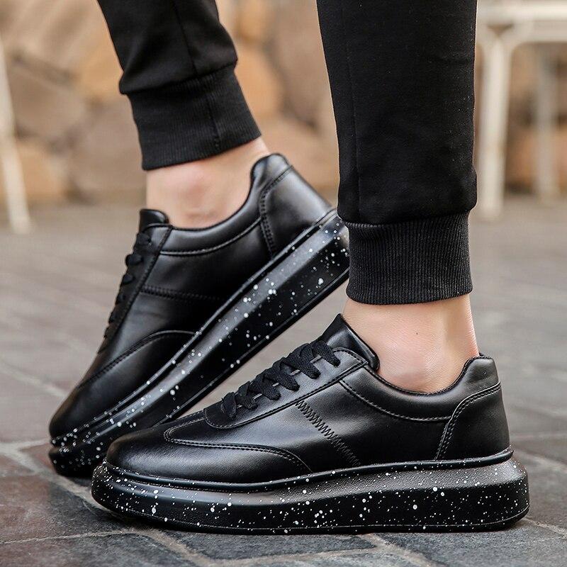Мужские кроссовки; белая обувь; мужские теннисные кроссовки; мужские зимние кроссовки для отдыха; кожаная обувь на плоской подошве; мужские зимние кроссовки на толстой подошве-in Мужская повседневная обувь from Обувь