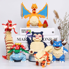 1450-2100pcs Monster Block Game DIY Mini Building Diamond Blocks Brick Kids Toys for Children Gifts 6606-6611
