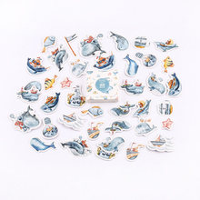 45 pcs/pack Ocean Dolphin Bullet Journal Washi Stickers Decorative Stationery Sticker Scrapbooking DIY Diary Album Stick Label(China)