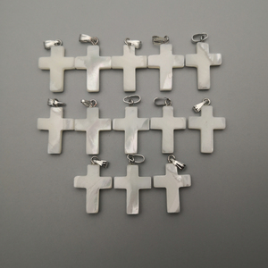 Image 2 - wholesale fashion Cross Natural shell Pendants for jewelry making charm diy necklace accessories 36pcs/lot