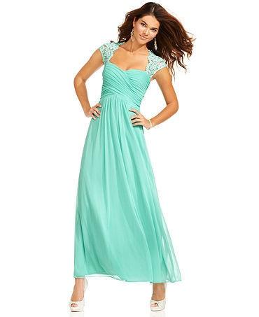 Free Shipping Vestido De Noiva Prom Gown Longo Simple 2018 Long Chiffon Cap Sleeve Lace Pleated Sweetheart Bridesmaid Dresses